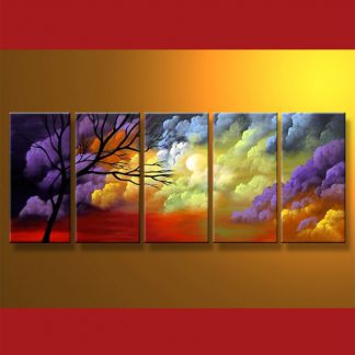 5 Panels Landscape 5 Panel Framed Canvas Art Multi Piece Framed Canvas Art