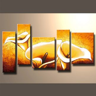5 Panels Flowers 5 Panel Framed Canvas Art Multi Piece Framed Canvas Art