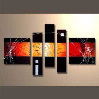 5 Panels Abstract 5 Panel Framed Canvas Art Multi Piece Framed Canvas Art