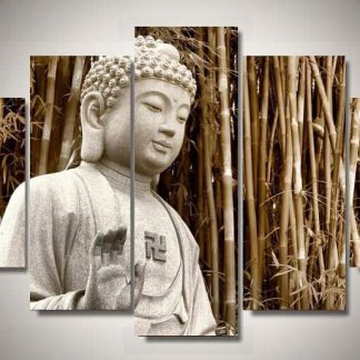 5 Panels Buddah Multi Piece Framed Canvas Art Poster Print