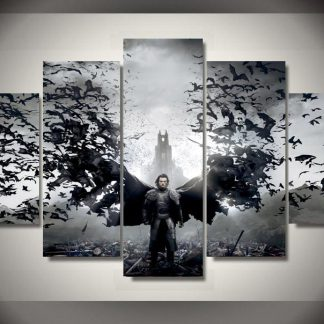 5 Panels Dracula Multi Piece Framed Canvas Art Poster Print