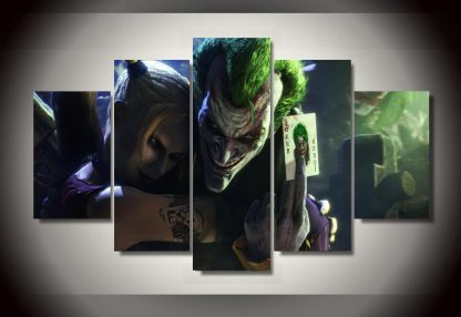 5 Panels The Joker Multi Piece Framed Canvas Art Poster Print