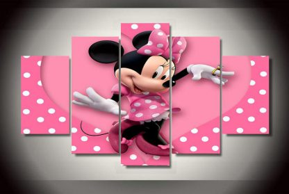 5 Panels Minnie Mouse Multi Piece Framed Canvas Art Poster Print