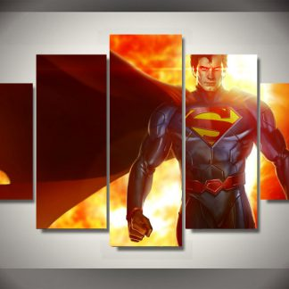 5 Panels Superman Multi Piece Framed Canvas Art Poster Print