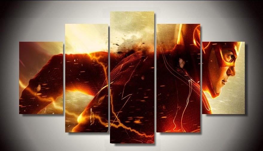5 Panels The Flash Canvas Art Multi Canvas Art