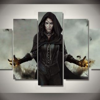 5 Panels Witcher Women Multi Piece Framed Canvas Art Poster Print