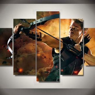 5 Panels Hawkeye Multi Piece Framed Canvas Art Poster Print