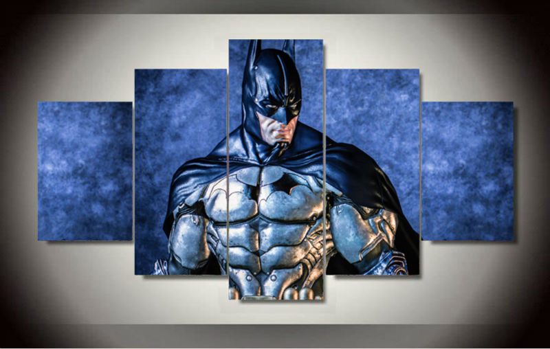 5 Panels Batman Dc Comics Group Artwork Multi Canvas Art