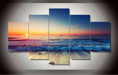 5 Panels Gorgeous Horizon Multi Piece Framed Canvas Art Poster Print