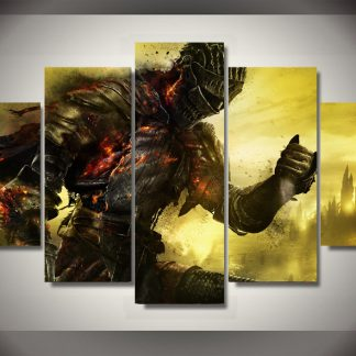 5 Panels Dark Souls 3 Multi Piece Framed Canvas Art Poster Print