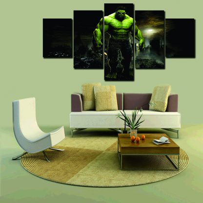 5 Panels The Incredible Hulk Multi Piece Framed Canvas Art Poster Print