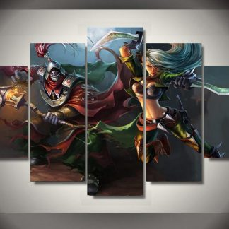 5 Panels League Of Legends Multi Piece Framed Canvas Art Poster Print
