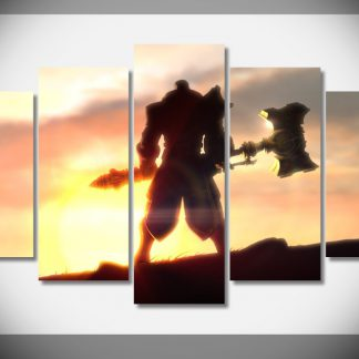 5 Panels League Of Legends Jayce Multi Piece Framed Canvas Art Poster Print