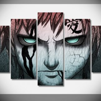 5 Panels Naruto Multi Piece Framed Canvas Art Poster Print
