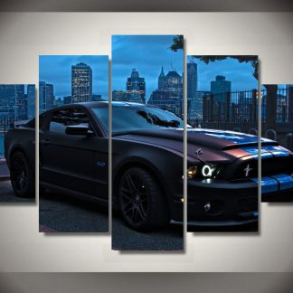 5 Panels Sports Car Multi Piece Framed Canvas Art Poster Print