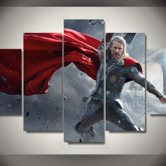 5 Panels Thor Multi Piece Framed Canvas Art Poster Print