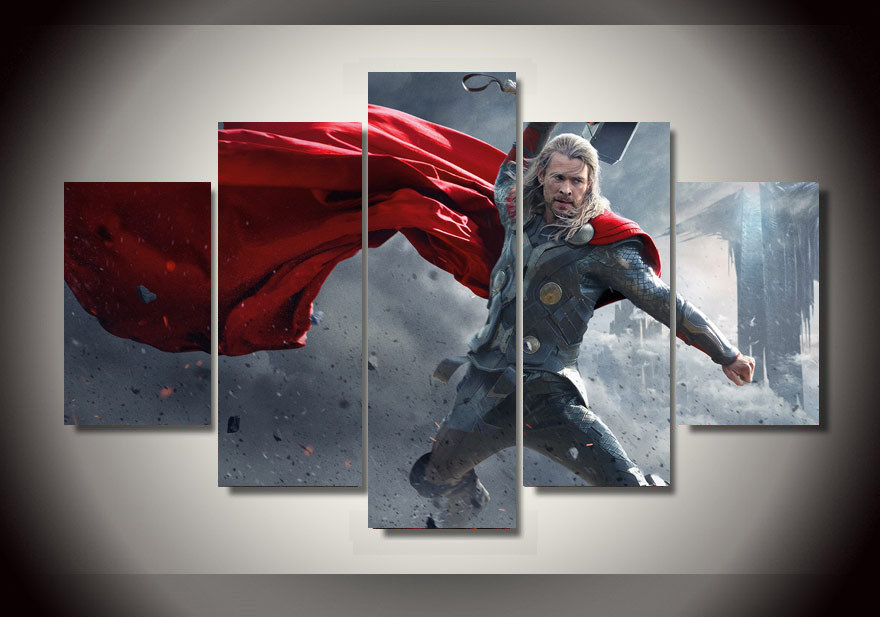 Sports Cars For Sale >> 5 Panels 5 Panels Marvel Avengers Thor Group Artwork Framed Poster Print Canvas Art Multi Piece