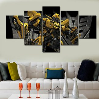 5 Panels Transformers Hornet Multi Piece Framed Canvas Art Poster Print