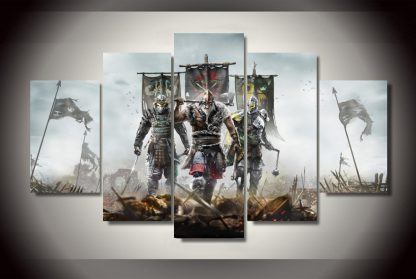 5 Panels For Honor Multi Piece Framed Canvas Art Poster Print