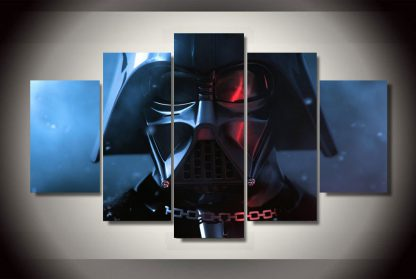 5 Panels Darth Vader Multi Piece Framed Canvas Art Poster Print