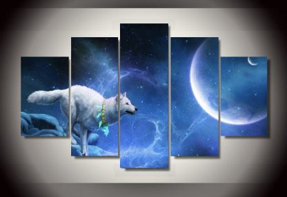 5 Panels Spiritual Animal Multi Piece Framed Canvas Art Poster Print