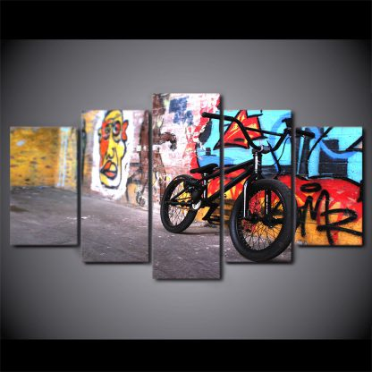 5 Panels Bicycle Multi Piece Framed Canvas Art Poster Print