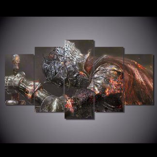 5 Panels Dark Souls 3 Multi Piece Framed Canvas Art