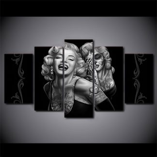 5 Panels Marilyn Monroe Multi Piece Framed Canvas Art Poster Print