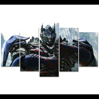 5 Panels Transformers Age of Extinction Multi Piece Framed Canvas Art Poster Print