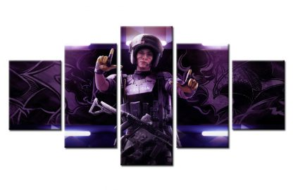 5 Panels Rainbow Six Siege Mira Multi Piece Framed Canvas Art Poster Print