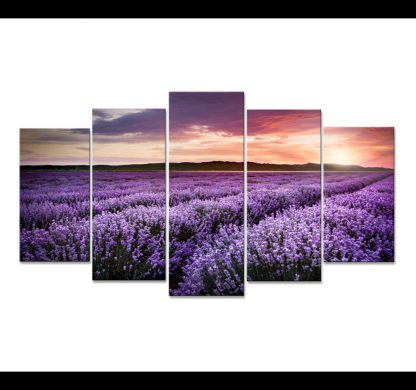 5 Panels Sunset Multi Piece Framed Canvas Art Poster Print