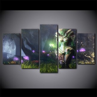 5 Panels Warefar Saryn Multi Piece Framed Canvas Art Poster Print