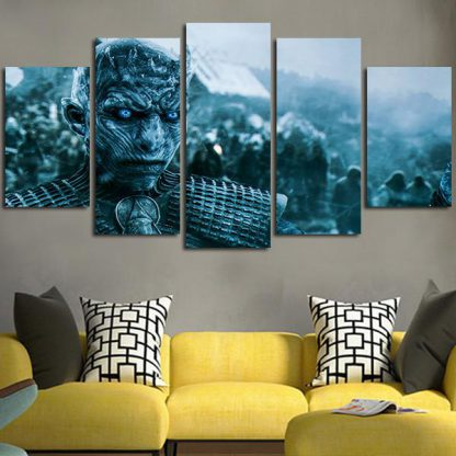 5 Panels Night King Multi Piece Framed Canvas Art Poster Print
