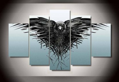 5 Panels Three-Eyed Raven Multi Piece Framed Canvas Art Poster Print