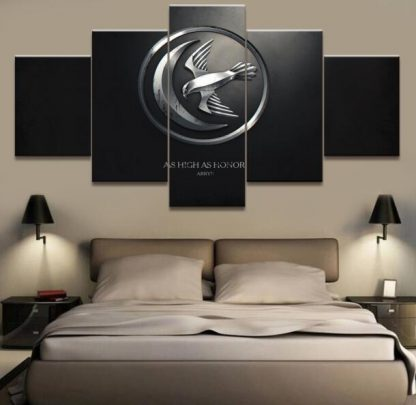 5 Panels House Arryn Multi Piece Framed Canvas Art Poster Print
