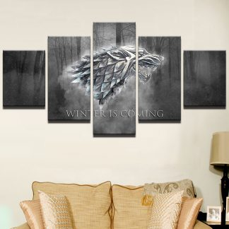 5 Panels House Stark Multi Piece Framed Canvas Art Poster Print