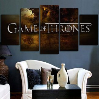 5 Panels Game Of Thrones Multi Piece Framed Canvas Art Poster Print