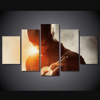5 Panels The Flash Multi Piece Framed Canvas Art