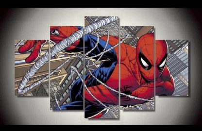 5 Panels Spiderman Multi Piece Framed Canvas Art Poster Print