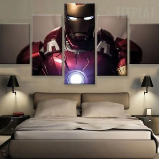 5 Panels Ironman Multi Piece Framed Canvas Art Poster Print