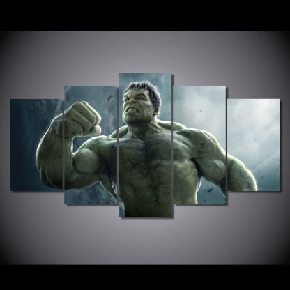 5 Panels Hulk Multi Piece Framed Canvas Art Poster Print