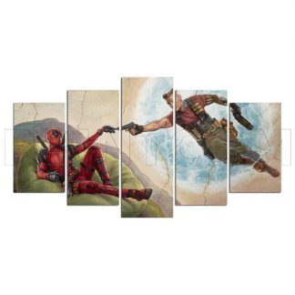 5 Panels Deadpool Multi Piece Framed Canvas Art Poster Print