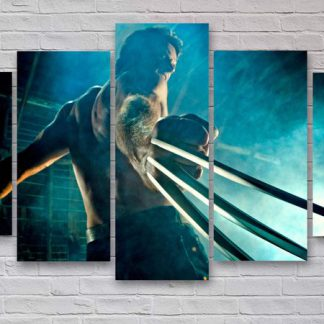 5 Panels Wolverine Multi Piece Framed Canvas Art Poster Print
