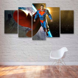 5 Panels Superman Multi Piece Framed Canvas Art
