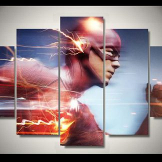 5 Panels The Flash Multi Piece Framed Canvas Art Poster Print