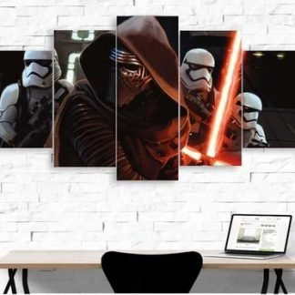 5 Panels Kylo Ren Multi Piece Framed Canvas Art Poster Print