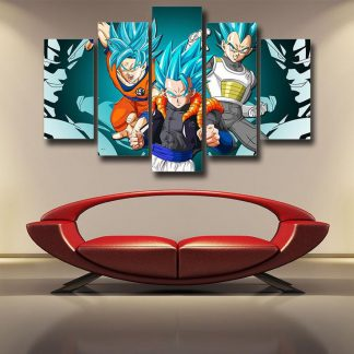 5 Panels Dragon Ball Super Multi Piece Framed Canvas Art Poster Print