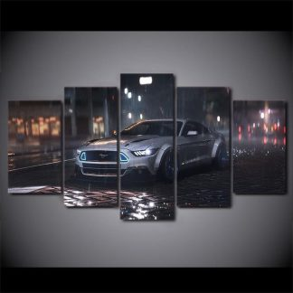 5 Panels Sport Car Multi Piece Framed Canvas Art