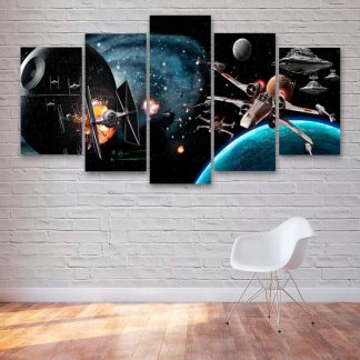 5 Panels Star Wars Multi Piece Framed Canvas Art