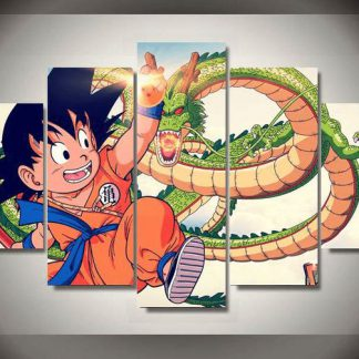 5 Panels Dragon Ball Z Multi Piece Framed Canvas Art Poster Print